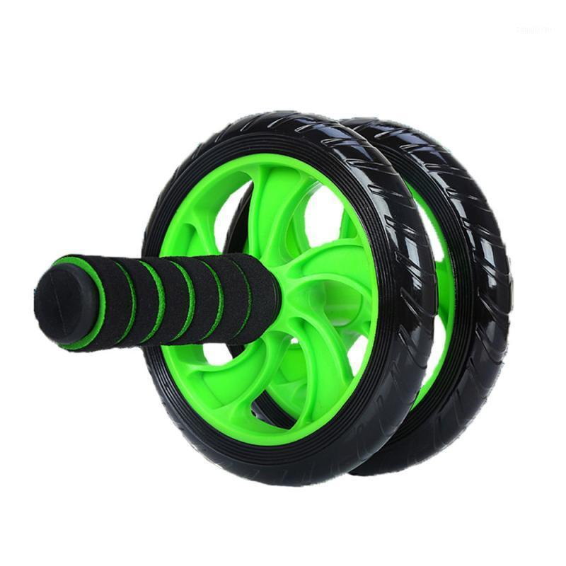 New Muscle Exercise Equipment Home Fitness Equipment Double Wheel Abdominal Power Wheel Ab Roller Gym Roller Trainer Training1