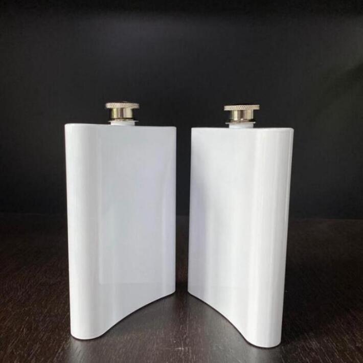 Botella de agua de la cadera de sublimación en blanco Botella de agua de acero inoxidable Tumblers de DIY Tumblers al aire libre Drinkware 8oz Sea Envío yl997