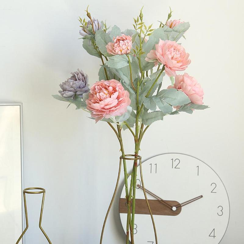 1pc del partido de jardín de bricolaje flor artificial realista Peony Inicio inofensivo boda decoración del hogar