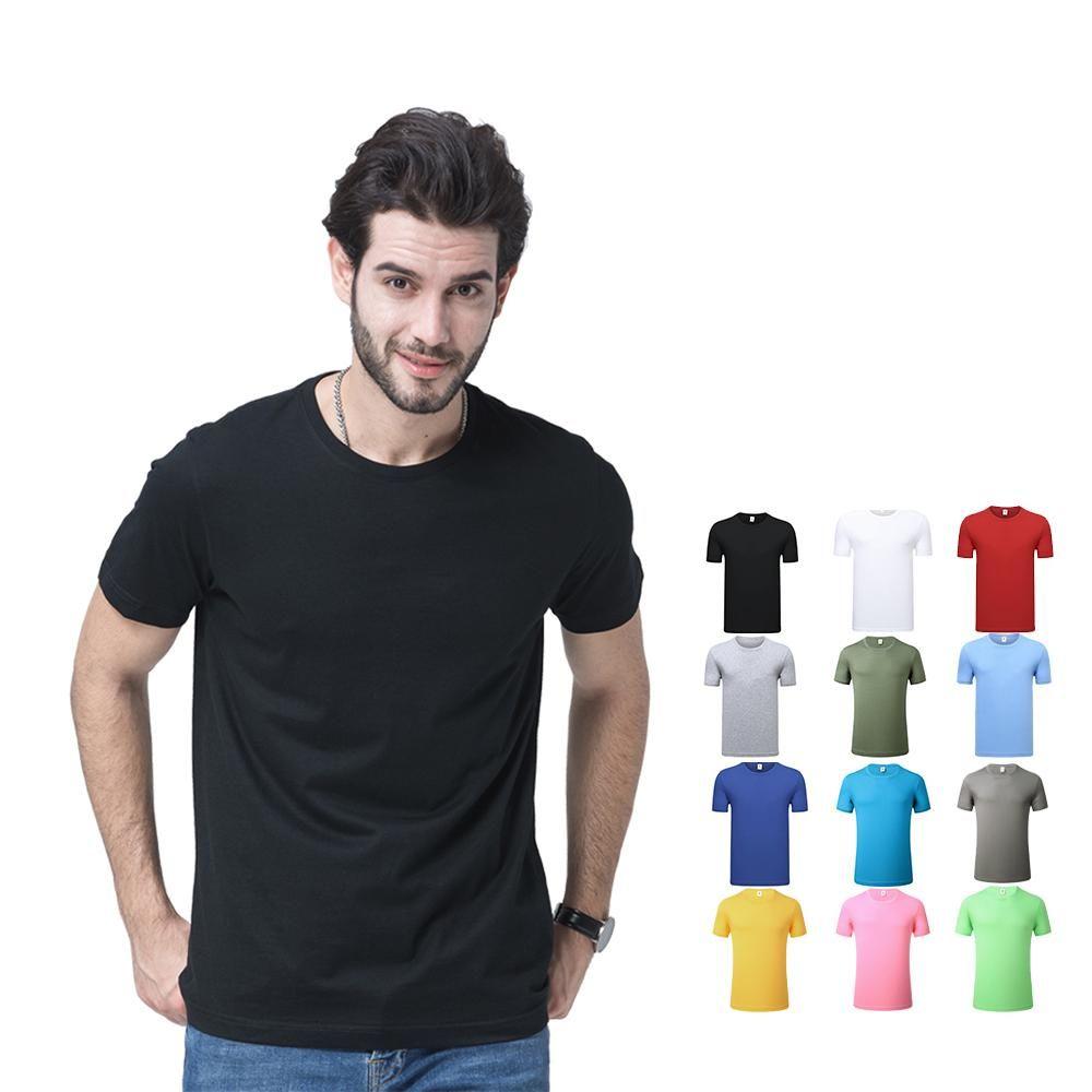 2020 vendita calda 100 camicie in cotone T di alta qualità modo poco costoso all'ingrosso abitudine Logo Plain magliette bianche