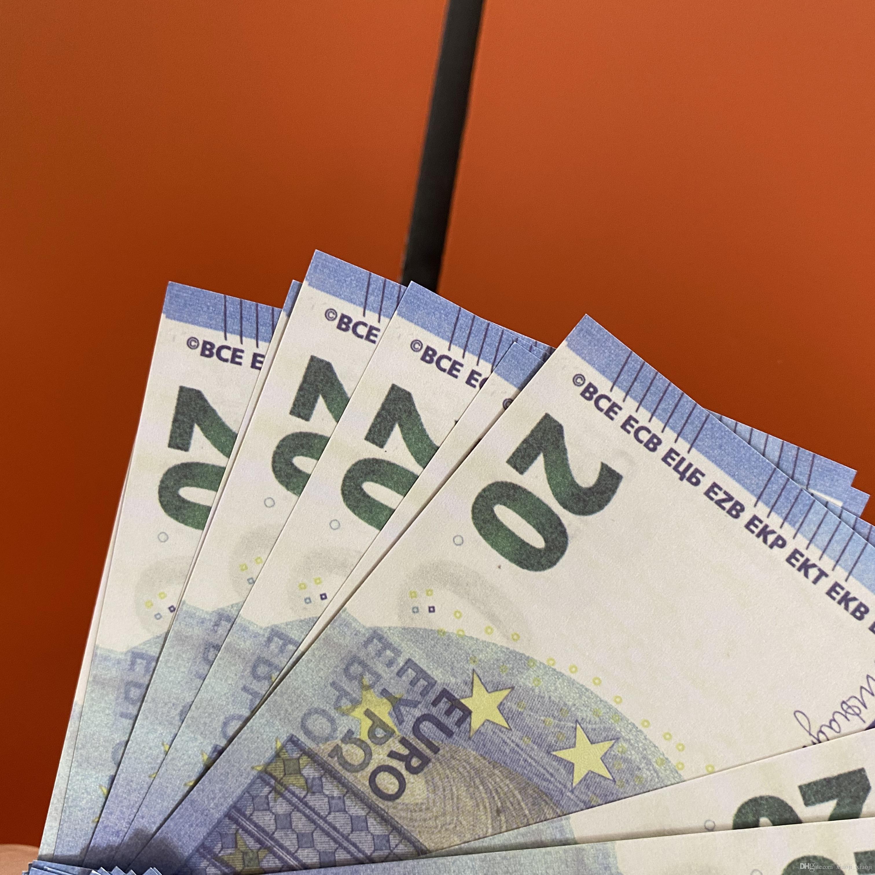 Billet de banque américain ou en papier enfants PROP PROP Toy181 / euro / dollar Family Money Jeu de jeu 100pcs / Pack Realistic Qlarr