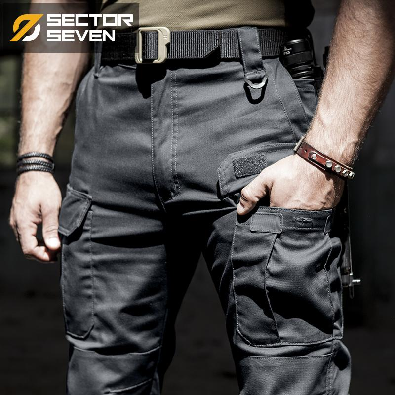 2020 New IX5 pantalons cargo tactique pantalon décontracté hommes combat SWAT armée travail militaire actif Pantalons hommes de coton pour hommes LJ201007