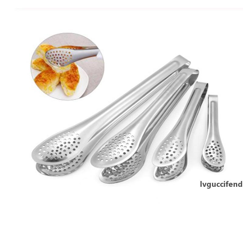 5/7/9/12 inch Multifunction Stainless Steel Food Tongs Non-stick BBQ Kitchen Cooking For Cake Steak Serving Utensil Kitchen Tool