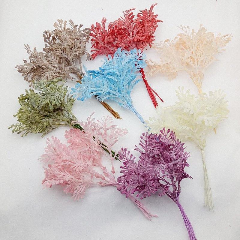 Diy Handwerk Simulation Blätter Haar Hut Blatt Zubehör Blumen Hoar Blätter lose Nebel sen Hände gebunden als Zubehör M1xg #