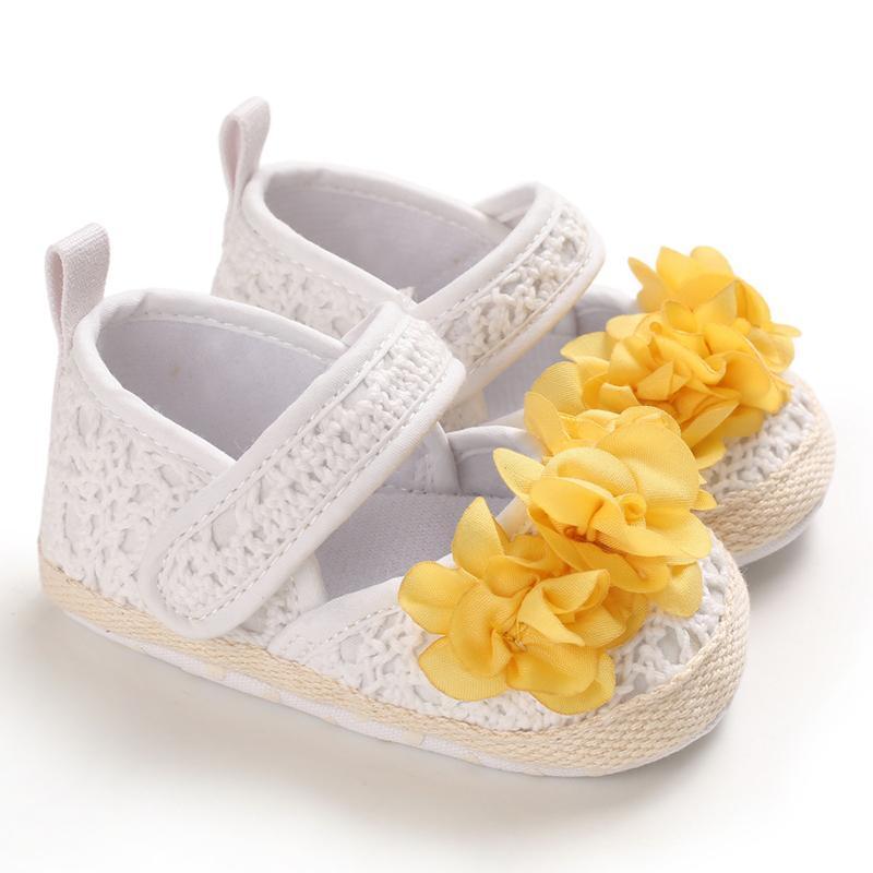 Kaymaz Rahat Sneakers Bebek Kız Ayakkabı Baskı Çiçek Bebek Prenses Ayakkabı Parti Toddler Yumuşak Yürüyüş
