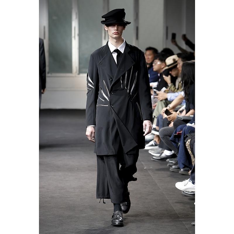 2020 Blazers Взлетно-посадочная полоса Мужские бы показывают пользовательских ручной работы шва с нерегулярным парикмахером DJ Куртки Большие костюмы 3R4O