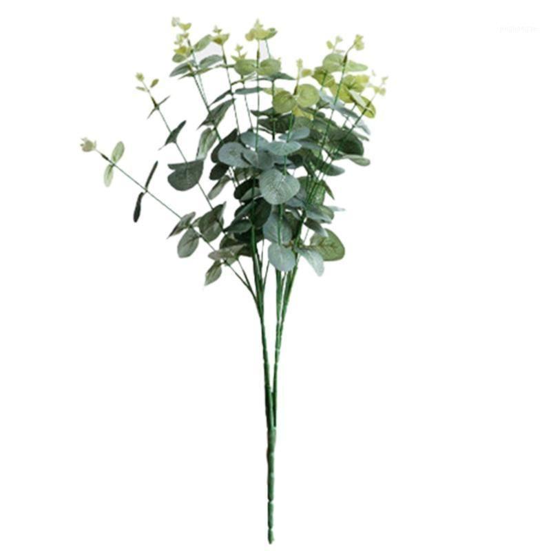 16 Köpfe Eukalyptus Bouquet Zweige Seide Künstliche Blätter Blume Dekorationen1