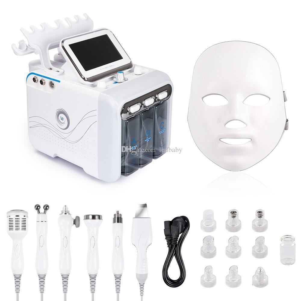 transporte Fe Facial Beauty profundo máquina de limpeza dos poros da pele Hydrofacial dermoabrasão máquina 7in1 água Microdermabrasion Peel Hydra pele