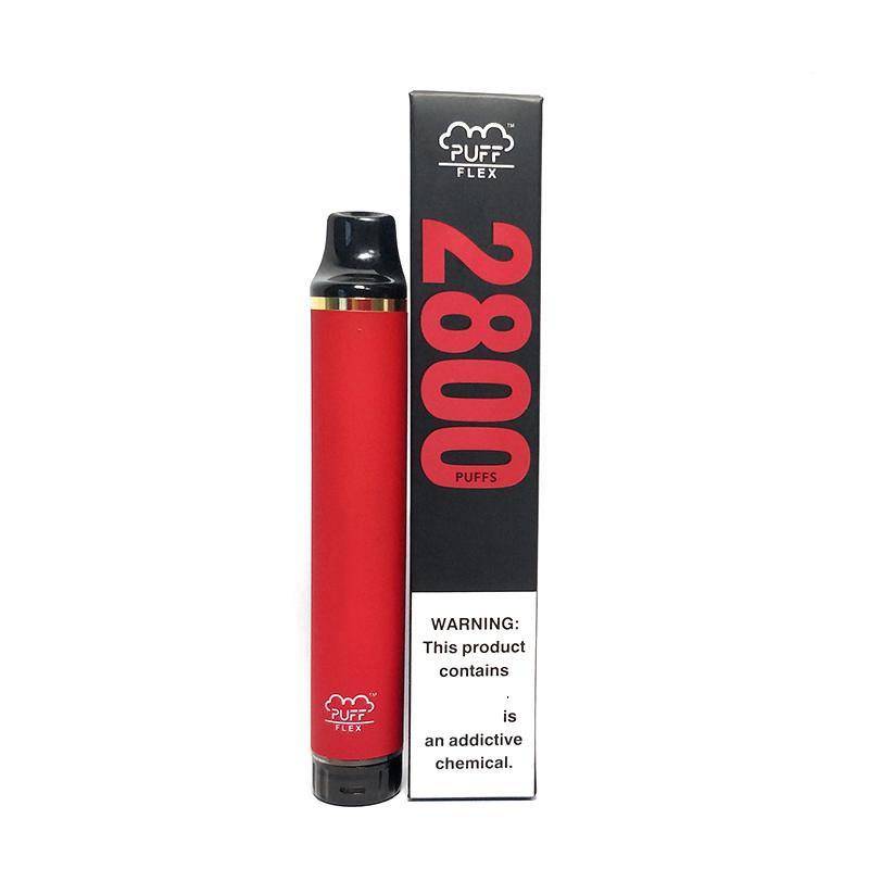 일회용 vape 퍼프 바 플렉스 2800 조회수 E 담배 850mAh 배터리 Sigaretta Elettronica XXL Max