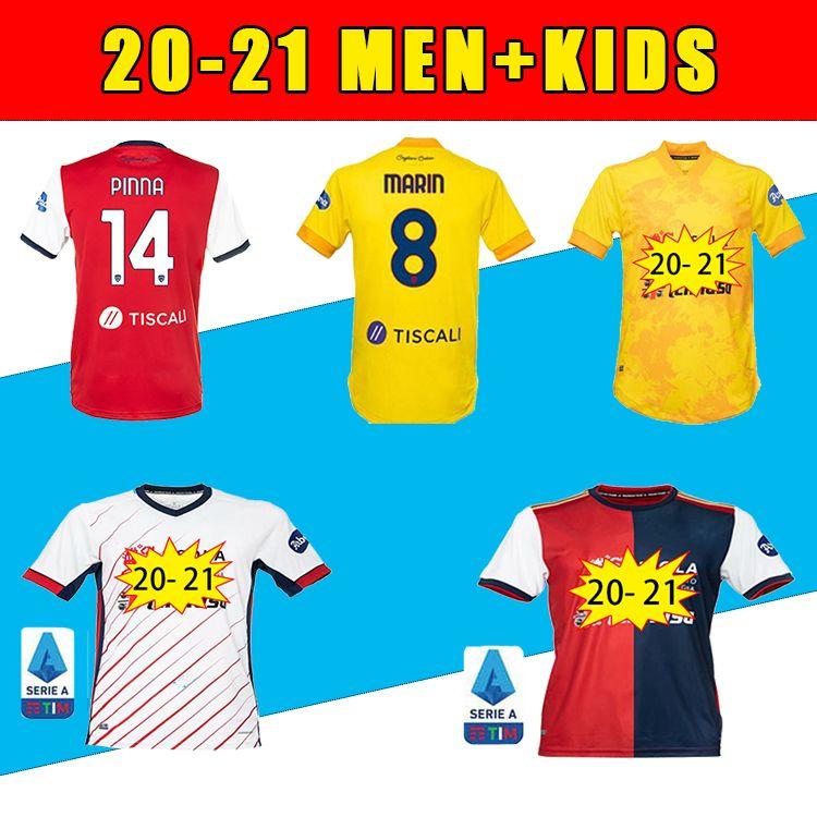 20 21 Top Cagliari Calcio Futebol Jerseys Home Away João Pedro Simeone Nainggolan Godin Futebol Camisas Pavoletti Kiduomini Futebol Uniforme