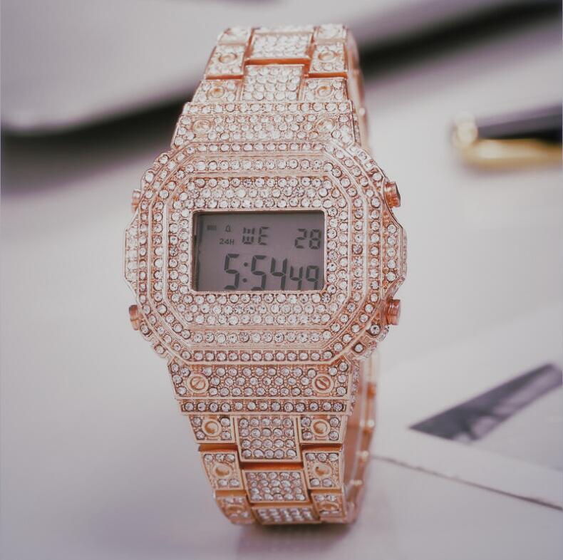 Sport Wrist Watch For Man Women Male Waterproof Outdoor Watches LED Digital Diamonds Clock
