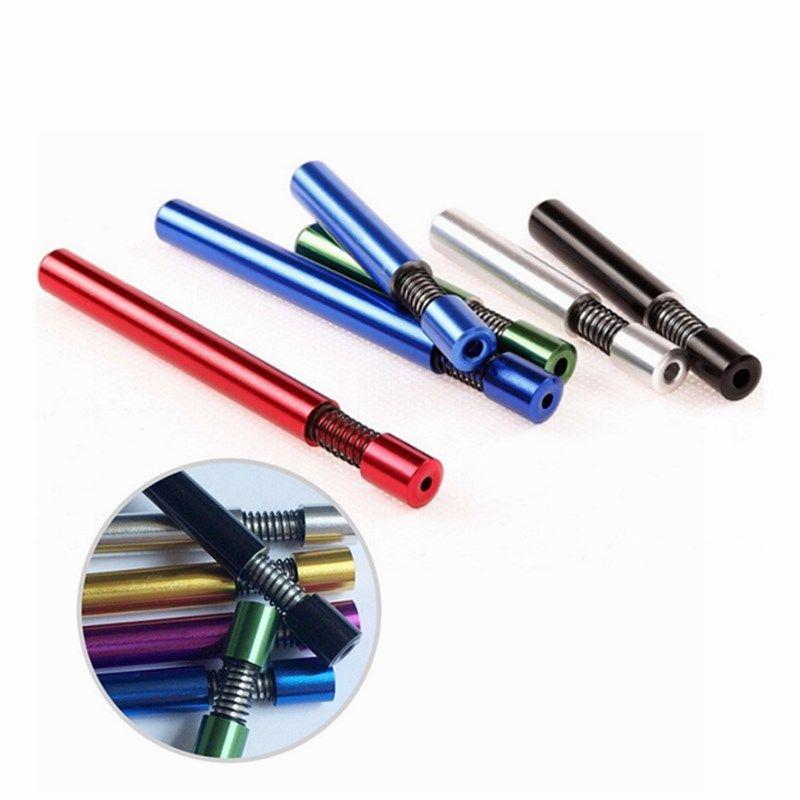 Новые курящие табачные трубы пружины 82 мм алюминиевый сплав металлический курительный трубчатый трубы трубы без курения бумаги табачные трубы держатели аксессуары