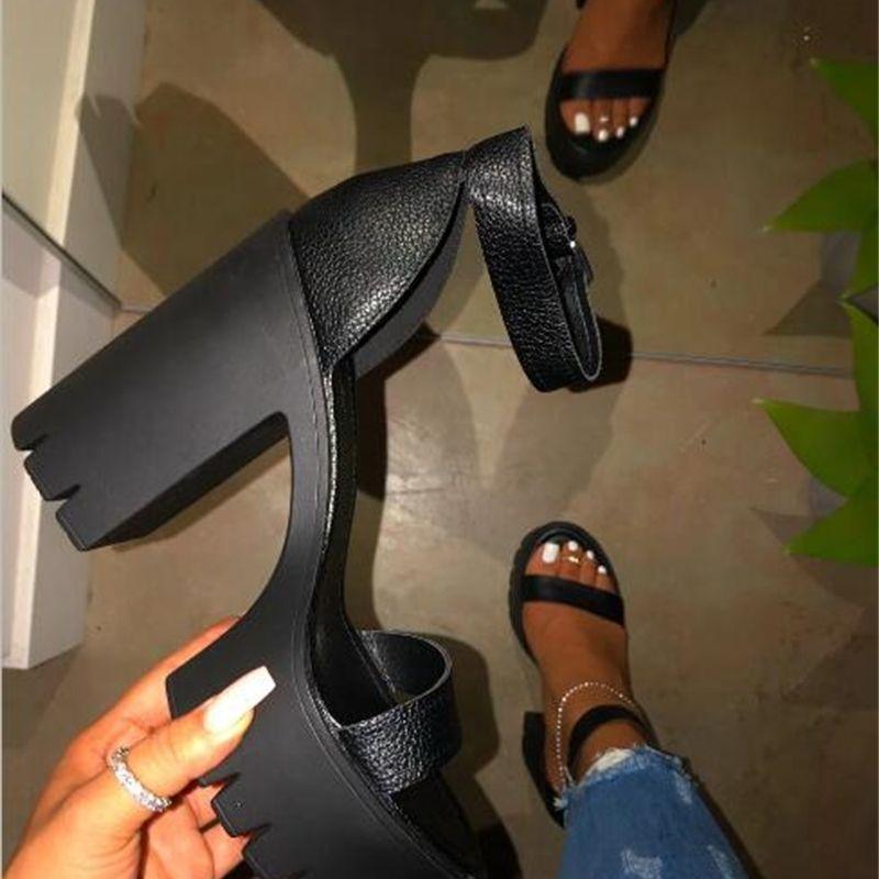 Sandalias Zapatos de moda Club de moda PVC hembra tacones altos mujeres Sexy Poe Open Toe barato Claro Plataforma Transparente Fiesta Comfort Holiday