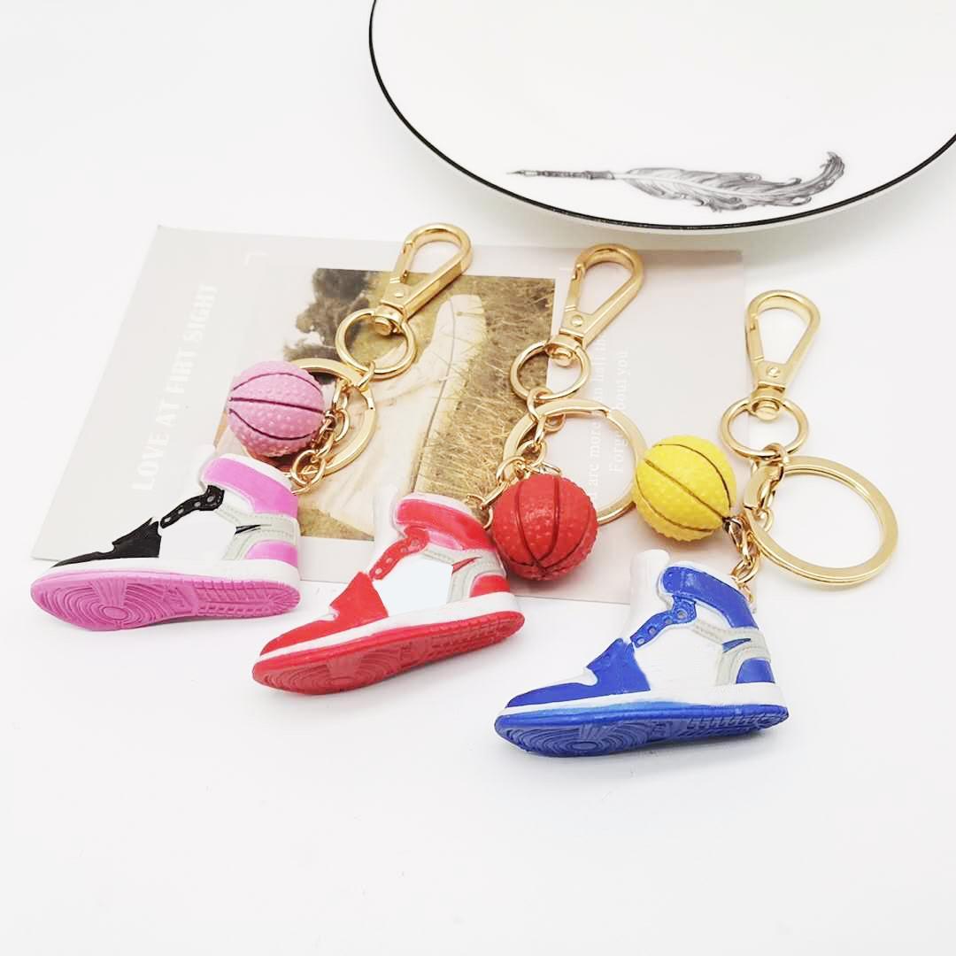 Portachiavi all'ingrosso di alta qualità Porta a catena di basket Design del marchio Design portachiavi Porta