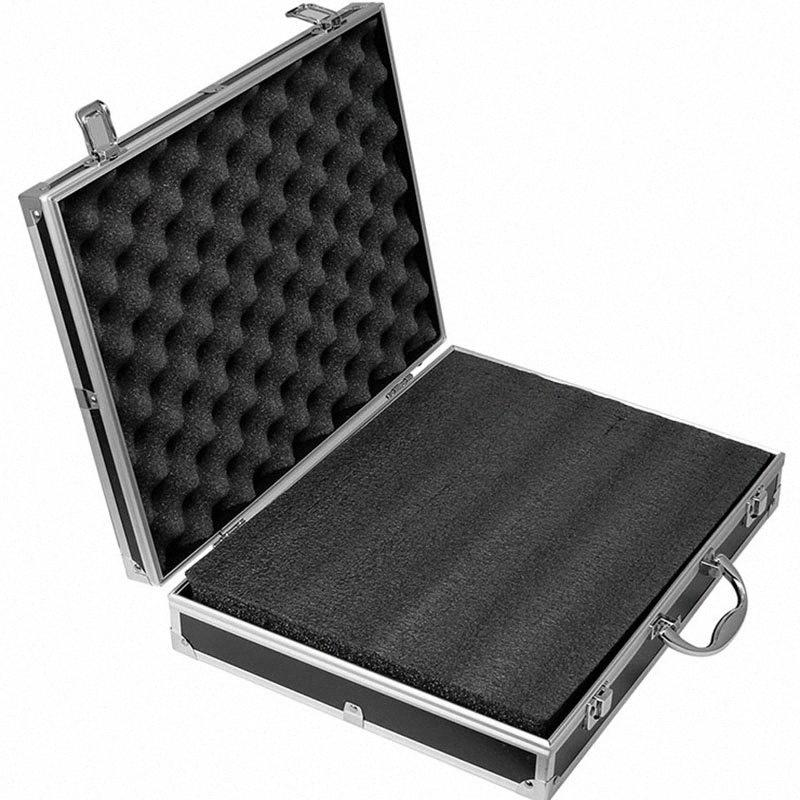 Multi-function Aluminum Alloy Tool Box hardware toolbox high quality Impact resistant safety case with foam lining 37x28.5x8cm ebiW#