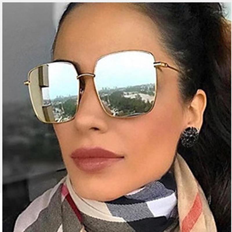 Feishini черные модные негабаритные квадратные солнцезащитные очки женщины поляризованные 2020 мода УФ протектор кореи очки мужские зеркало оригинальные1