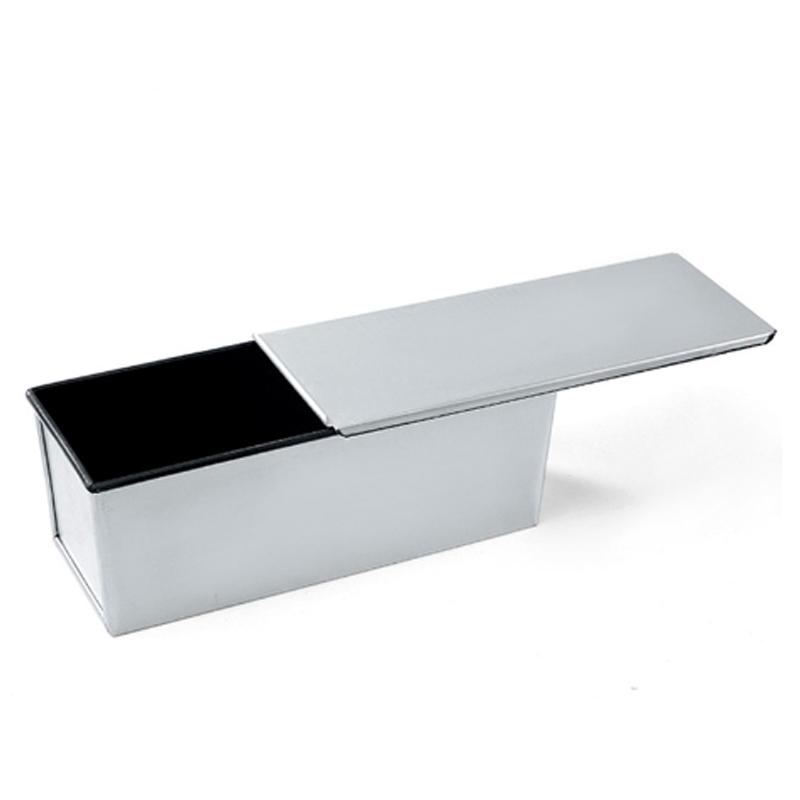 250g / 450g / 600g / 750g / 900g / 1000g Aluminiumlegierung schwarz Antihaftbeschichtung Toast Boxen Brotlaib Pan Kuchenform backen Werkzeug mit Deckel