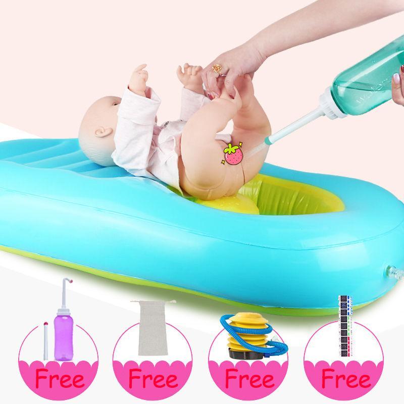 Персонализированные ребенка ванночки для мытья спины, надувная раковины с новорожденной продукцией, подарочной упаковкой, ванны стулом, сиденьем, подушками, ковриком, удобной