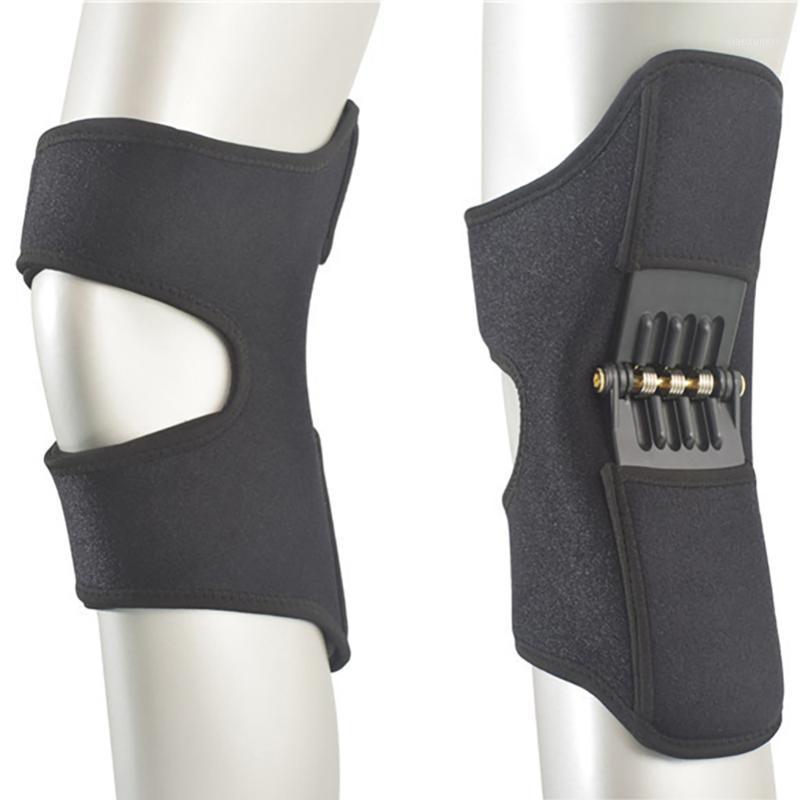 1 par de almohadillas de rodilla de soporte conjunta antideslizante Potente Rebote Fuerza de primavera Deportes Soporte de rodilla Hurguesa Mighscalves Drop Shipping1
