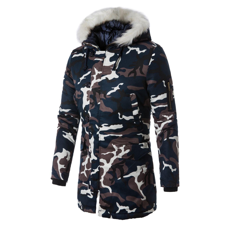 Chaqueta de invierno 2020 Camuflaje grueso cálido Parka Abrigo Masculino de moda con capucha Parkas Men M-5XL Tallas grandes