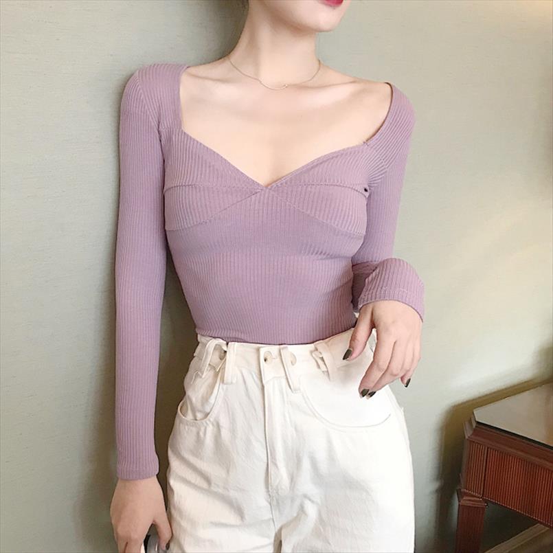 Corte mulheres adolescente adolescente meninas sexy tees baixo pescoço V femmes feminino camisa feminina camisa t t bdmem