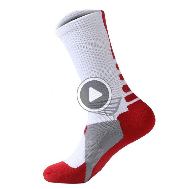K72C Brand New professionali calze sportive con asciugamani spessi calzini Elite Basketball SOCR Outdoor Sport Socks 7 colori di trasporto