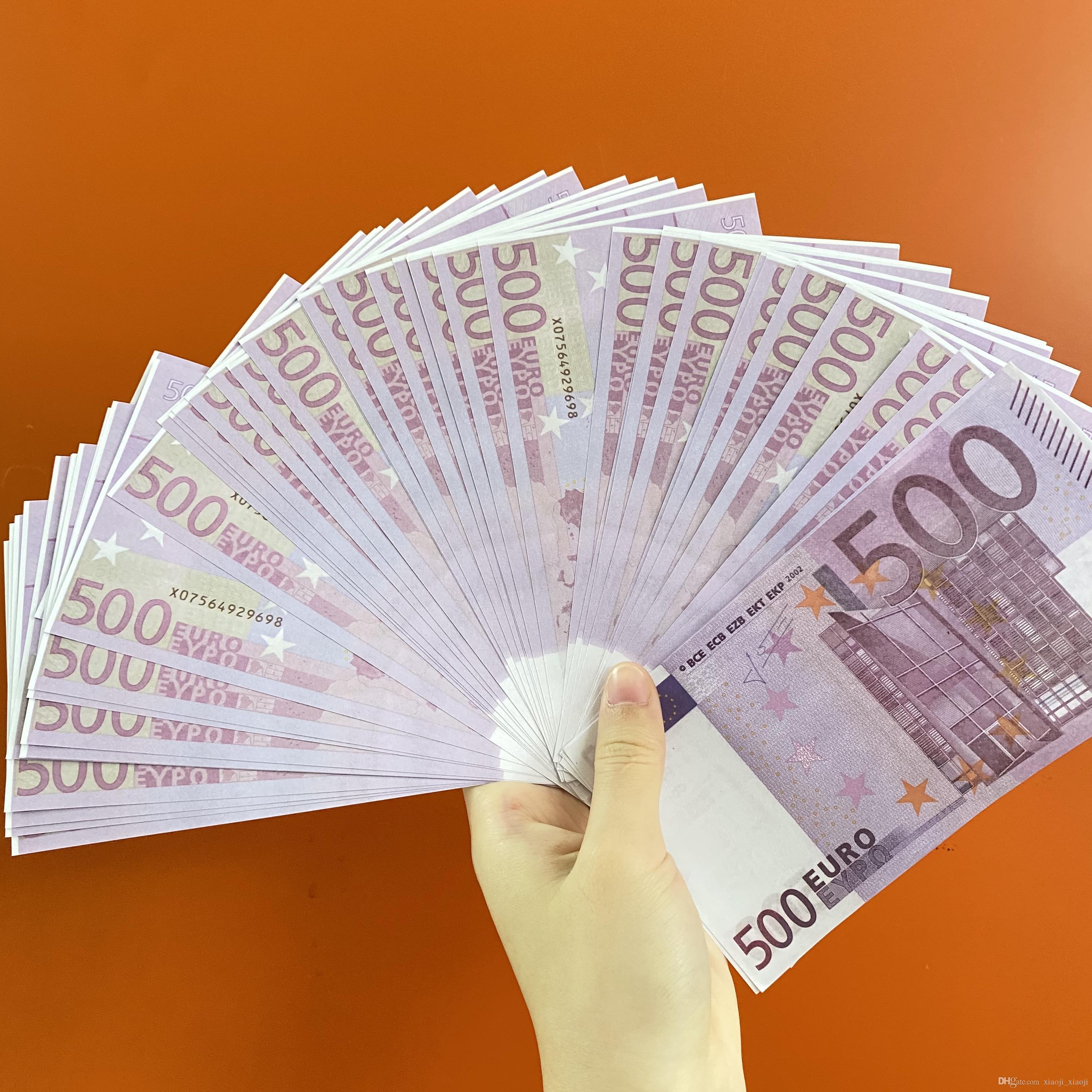 Бар бара и фильма евро поддельные 500 игрушечные игрушечные деньги монета телевизионная стрельба реквизит практика монета банкнота TOKEN048 PROP AHSRL
