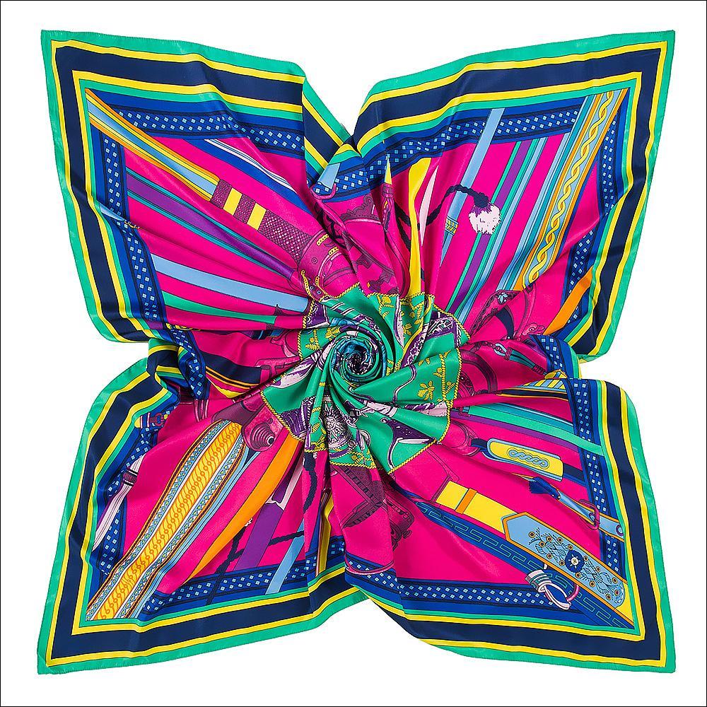130 * 130 cm Echarpe à col de soie Femmes 100% véritable écharpe de soie châle de la ceinture d'impression Vintage Grand Bufandas Soik Soik Soik SHAWSWRAPS Cadeaux