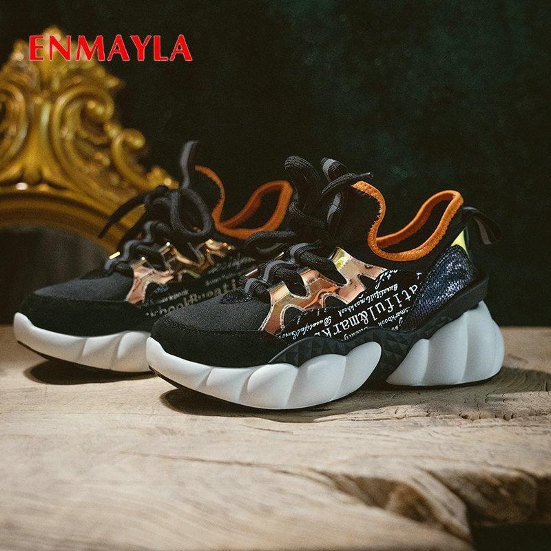 Zapatos de vestir ENMAYLA 2021 TOO ROPATIVO PLATAFORMA CALIFICA CORTEAR TOELES REDONDOS MALSH (Malla aérea) Moda del talón cuadrado 34-40