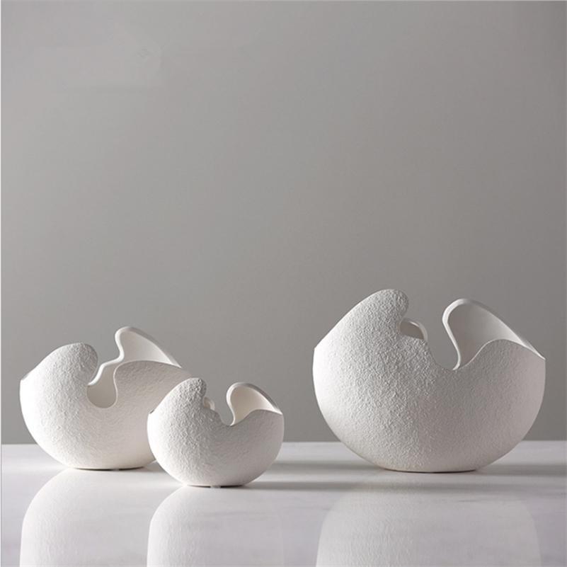 Прямые продажи китайский Jingdezheen фарфоровые вазы творчество современный стиль белые керамические вазы для свадьбы дома украшения 5 LJ201209