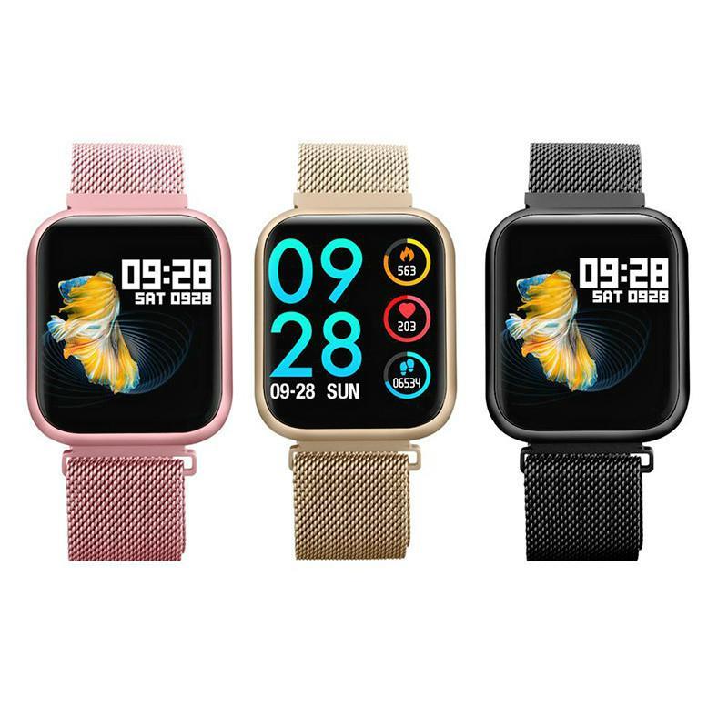 P80 Smart Watch IP68 Waterproof Heart Rate Monitor Fitness Tracker Blood Pressure Smartwatch Women Men Electronics Sport Wrist Watch