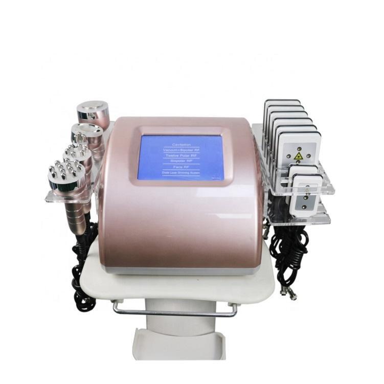 جهاز تجميل محمول جهاز بالموجات فوق الصوتية الليزر 80K 6 في 1 نظام شفاه الجسم التخسيس نظام التجويف فراغ