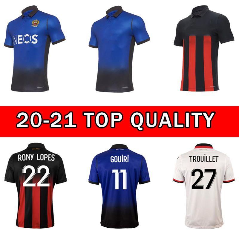 20 21 OGC Nice futebol jerseys Dolberg 2020 2021 Atal Lees Melou Cyprien Camisa de Futebol Rony Lopes Claude Maurice Football Shirt