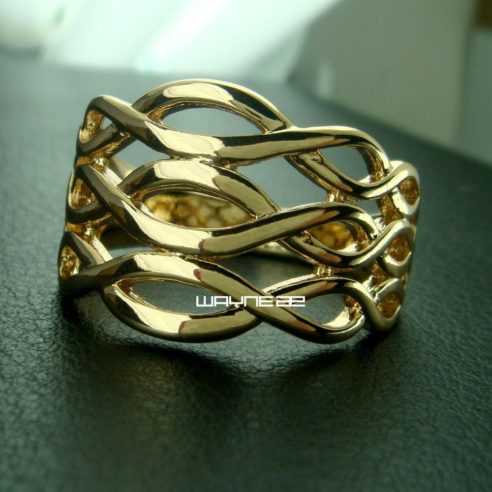 Größe 8 Schmuck der Frau 18K Gold füllte Ring-Geschenk-R218