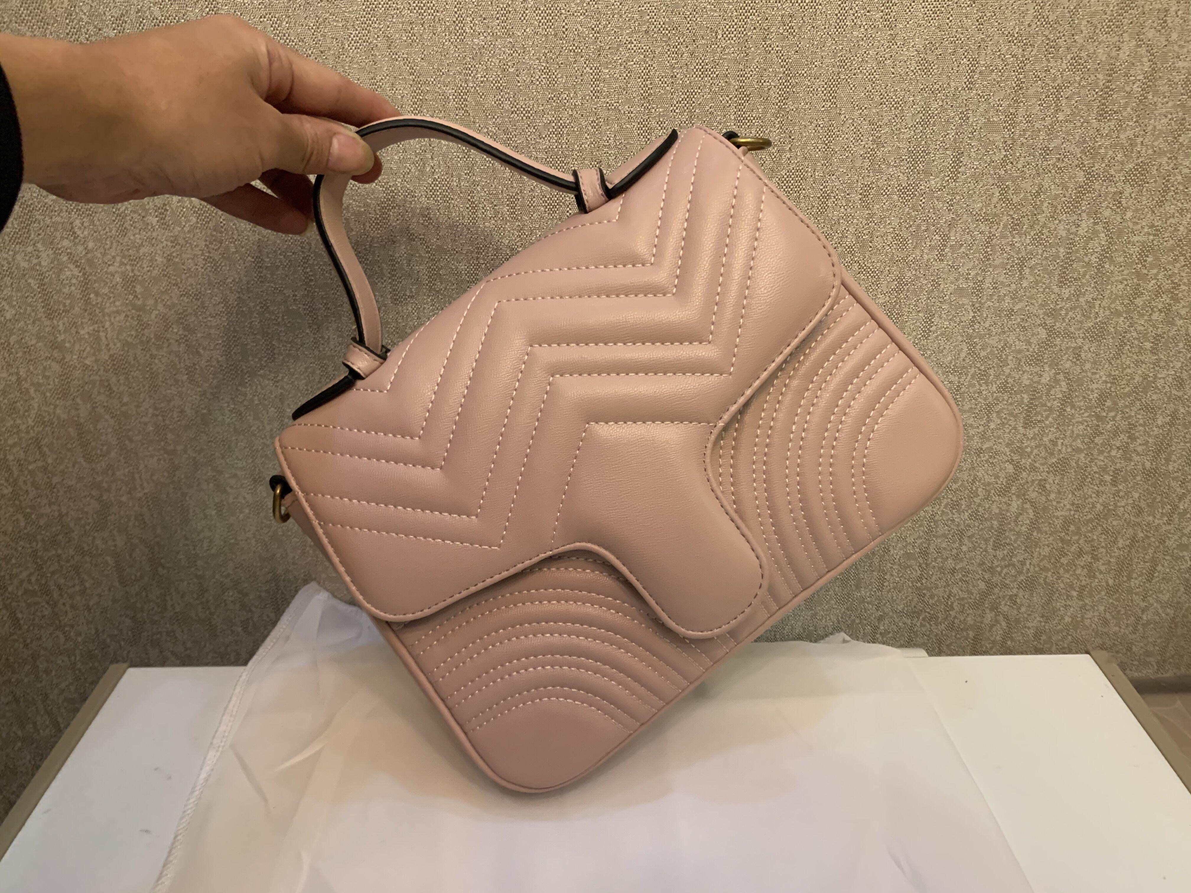 Venta de PU de cuero nuevo estilo de diseñador marmont bolsas de hombro mujeres bolso de cadena de lujo bolso cruz back bolsos caliente bolsos de oro Mensajero de oro BAVG