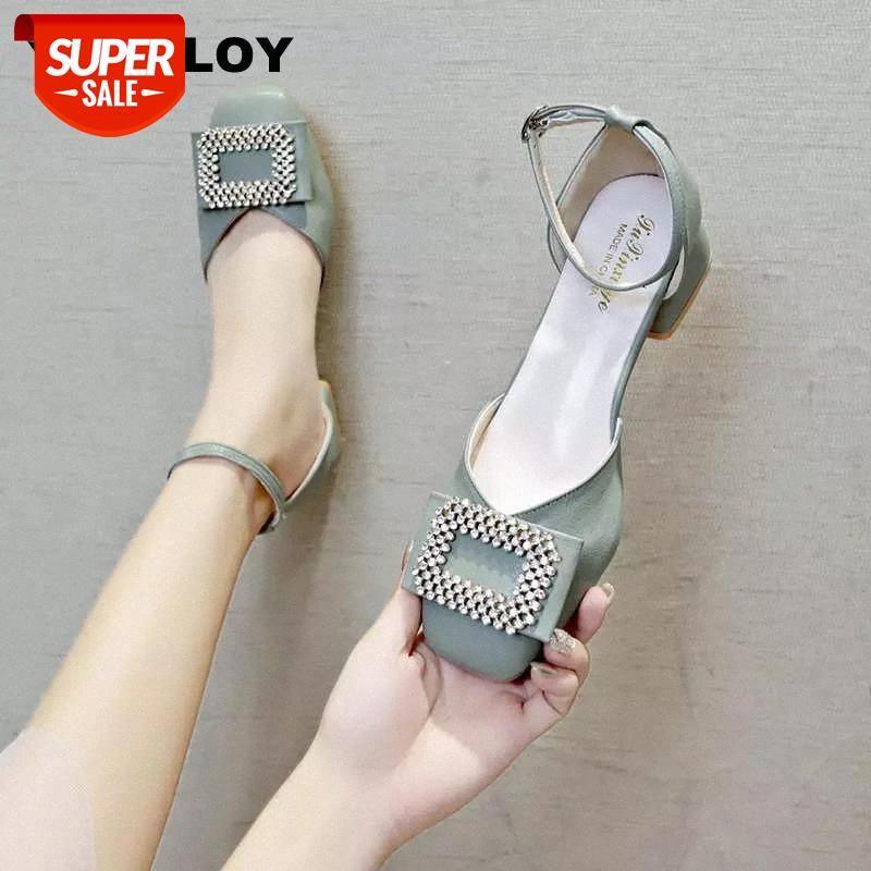 2019 Zapatos Mujer Femmes Pumps Bandes de cheville Chaussures de talon épais Chaussures de talons carrés Heels Mid Heels Travail Confortable Mesdames 5cm Hocal Hoof 6 # ZE2W