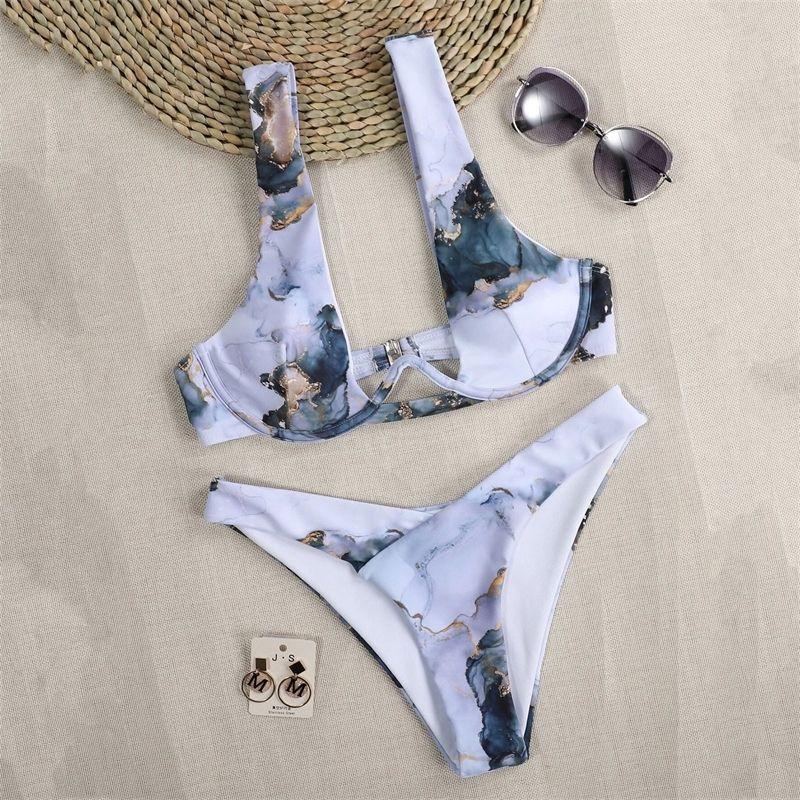 Сексуальные женщины бразильские купальники Push-up бюстгальтер бикини набор двух частей купальника купальника купальники пляжная одежда купания Maillot de Bain Femme