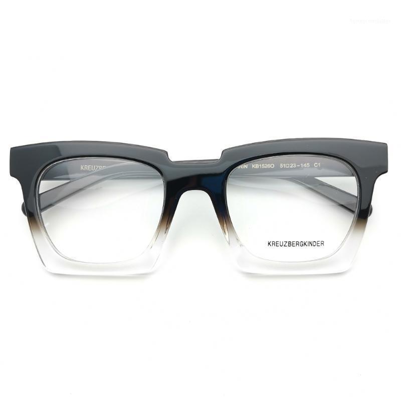 2020 Acetat Gradienten Schwarz Top Mode Rechteckige Brillen1