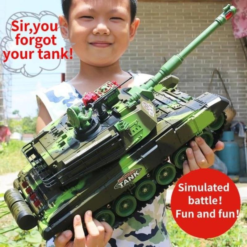 33 / RC Radio guerra tattico Veicolo militare Carro armato da combattimento del modello sonoro di Recoil elettronico Hobby Boy