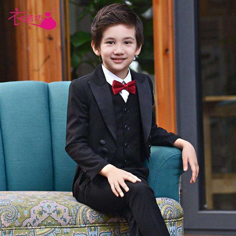Boys Suits for Weddings Kids Prom Suits Black Wedding Kids Boys Clothing Set Boy Formal Classic Costume Jungenkleidung YN3N#