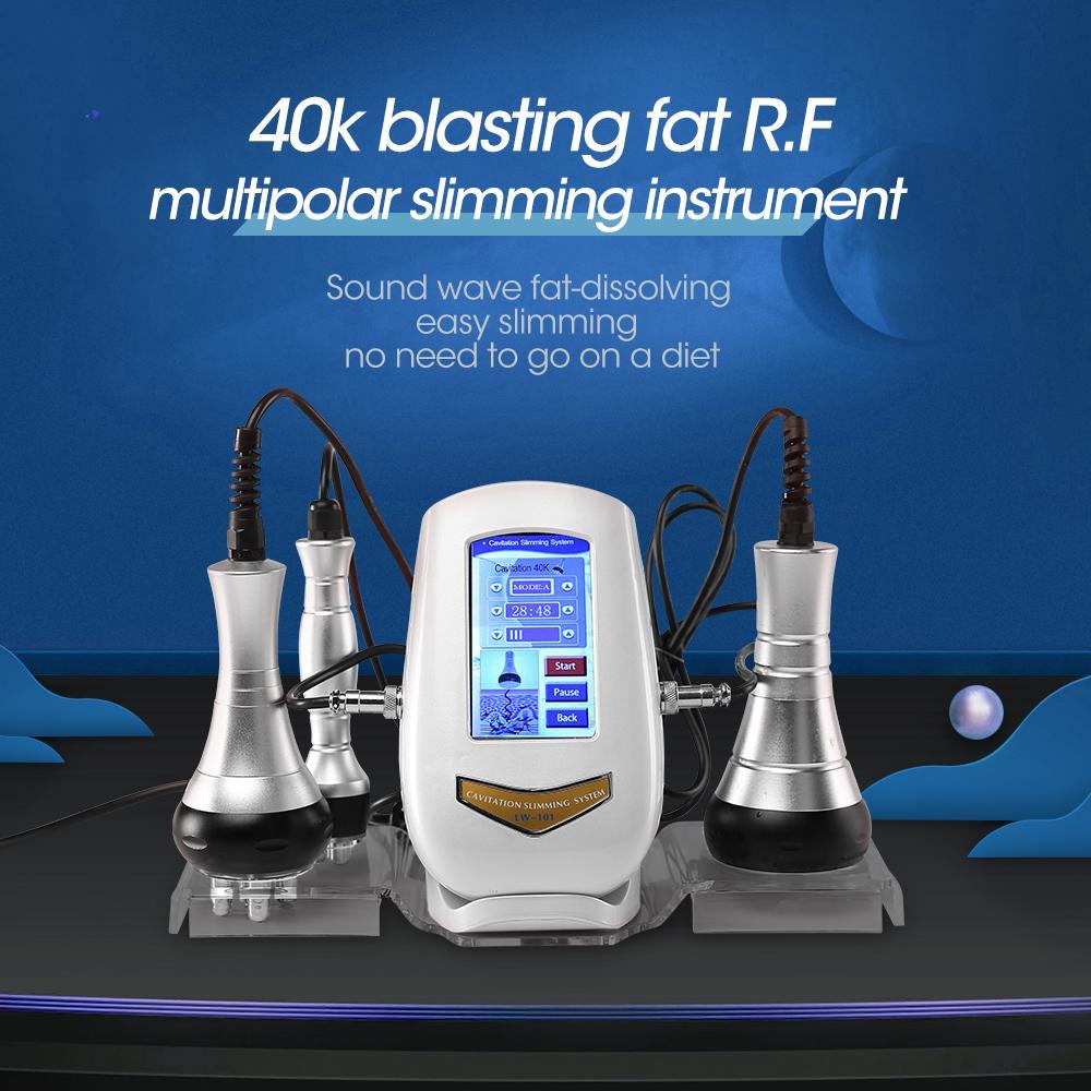 3 في 1 آلة التجويف بالموجات فوق الصوتية فراغ rf تردد الراديو lipo الليزر شفط الدهون آلة الجسم شكل التجويف ضئيلة التخسيس آلة