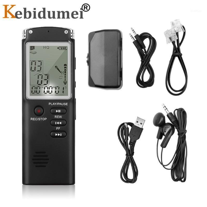 Gravador de Voz Digital Kebidumei Áudio USB Profissional 96 Horas Detafone Mini 8GB com WAV MP3 Player1