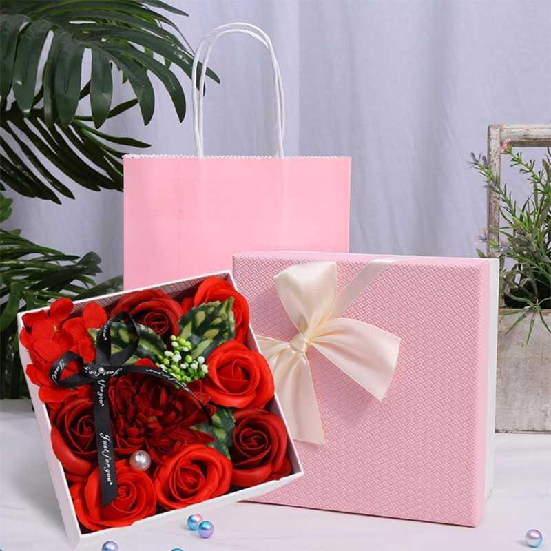 Hediye Wrap Çiçek Kutusu Sahte Dekorasyon Takı Organizatör Festivali Için Brithday Küpe Kolye Bilezik Ekran