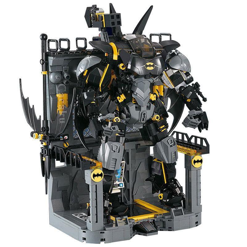 1124 PCS 벽돌 배트맨 헬륨 세트 슈퍼 영웅 모델 빌딩 블록 소년 생일 크리스마스 선물 어린이 장난감 어린이 C0119
