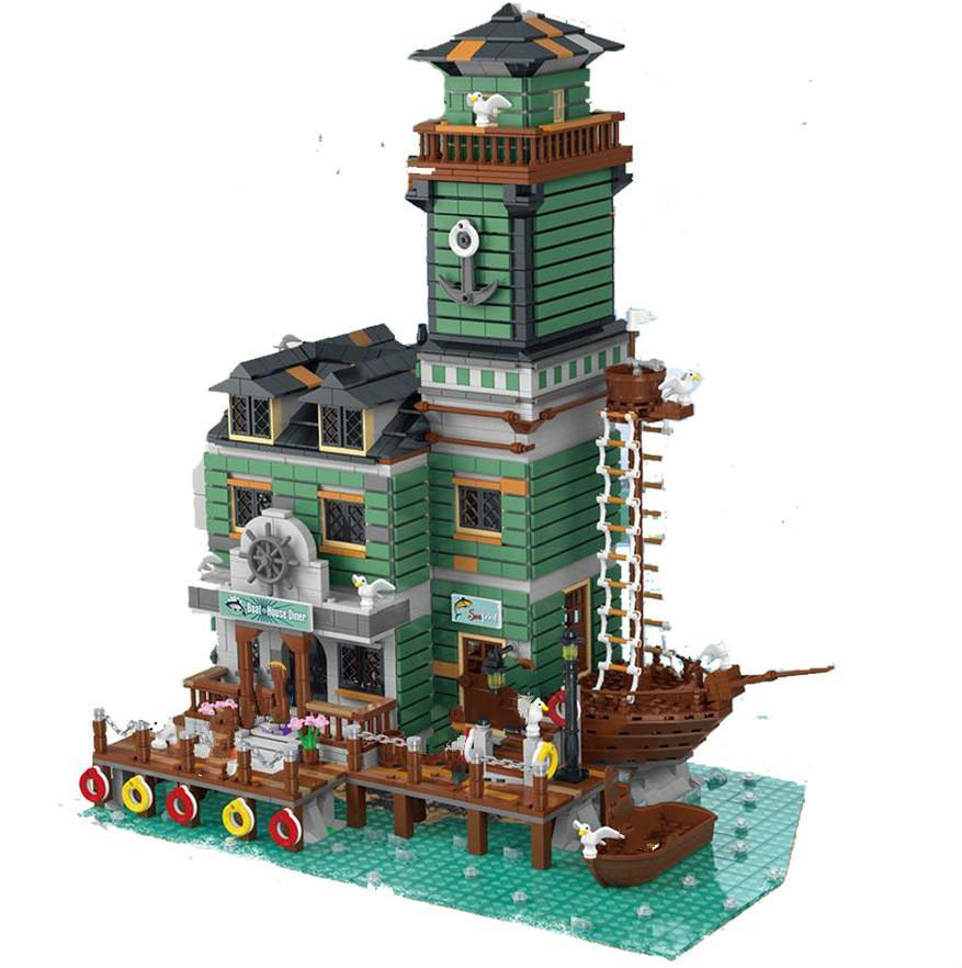 UG-30103 Creator Binası Serisi Eski Balıkçılık Evi Tekne Hous Diner Yapı Taşları 3353 ADET Tuğla