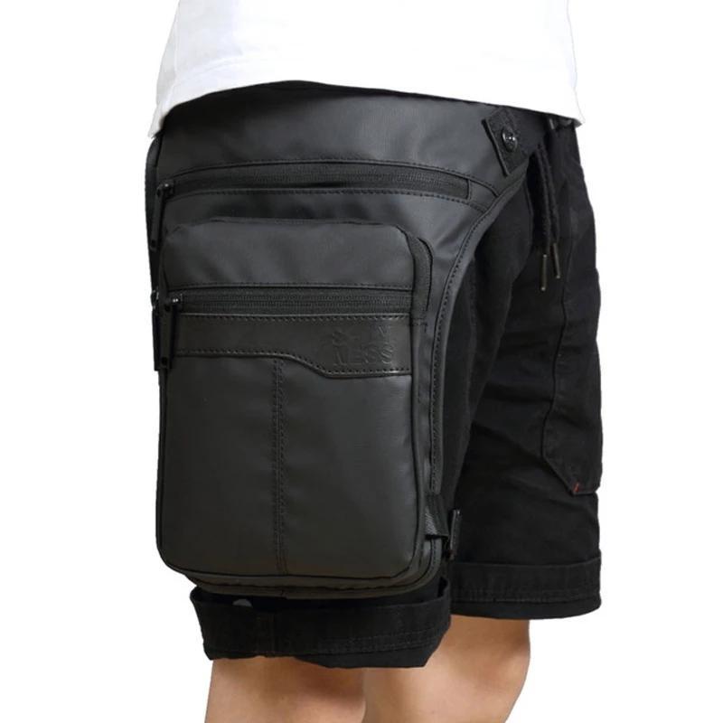 Высокое качество Мода мужчин Оксфорд ездить Leg Велоспорт сумка падения Фанни Талия сумки Военный мотоцикл Crossbody Сумки Водонепроницаемая