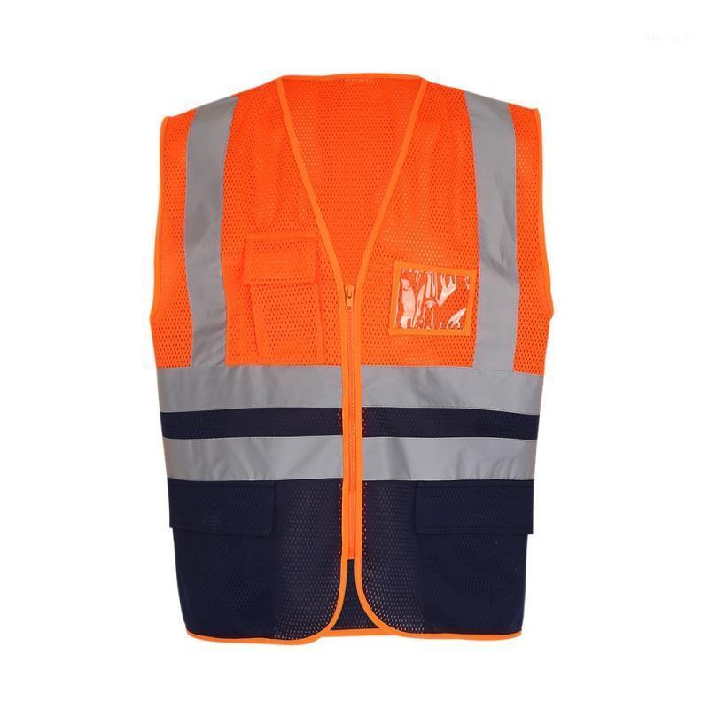 Ходовые майки Высокая видимость Светоотражающая безопасность Жилет Workwear Multi Pockets Жилет 2 Цвета1