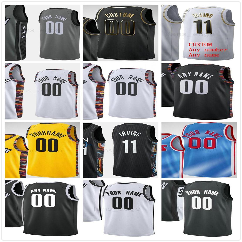 Imprimé personnalisé 11 Kyrie 7 Kevin Irving Durant 13 Harden Deanden Spencer 26 Dinwiddie Joe 12 Harris 72 Biggie Hommes Femmes Enfants Jerseys Jerseys