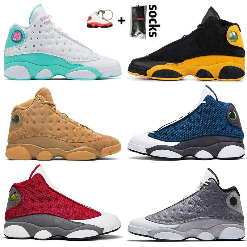 nike air jordan retro 13 13s Flint Jumpman zapatos de los hombres de rasoJordánEl ambiente retro gris trigo DMP Soar verde Mujeres Formadores las zapatillas de deporte