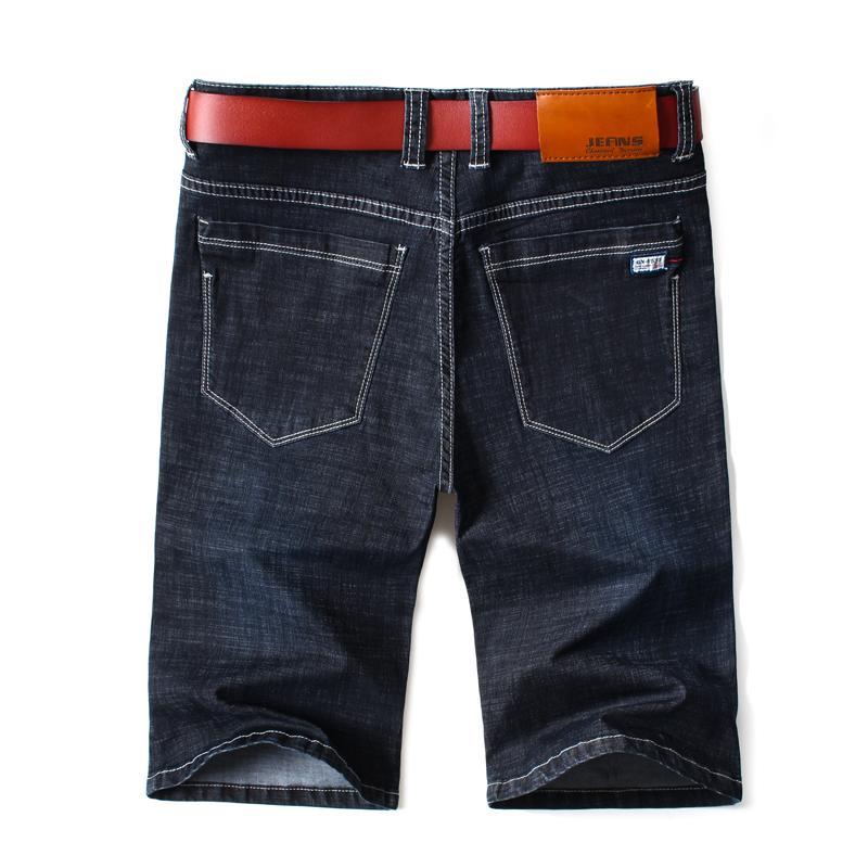 Mens-Sommer-Stretch Leicht Blau Denim Jeans Short für Männer Jean Shorts Pants Plus Size Large Size 42 44 46 1006